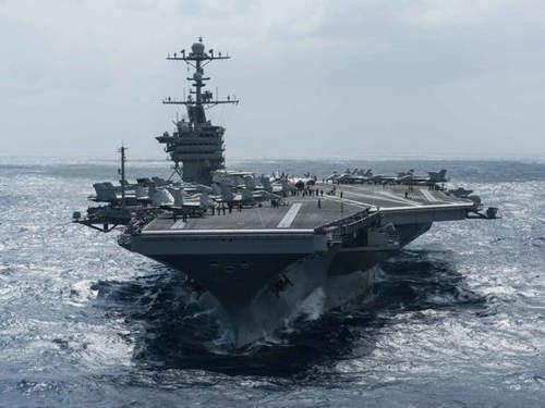 美双航母中国周边示威 暴露软肋
