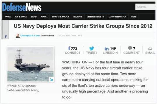 准备好了吗?美国双航母战斗群要来南海了!
