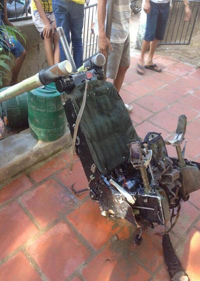 越南渔民发现失事苏-30飞行员座椅 越军方确认
