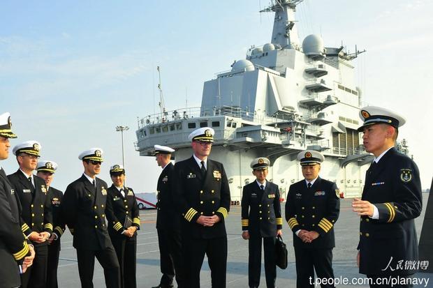 美海军高官为何频访辽宁舰?观察中国海军水平