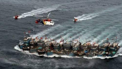 韩海警快艇被中国渔船撞沉 韩称有必要动用武器