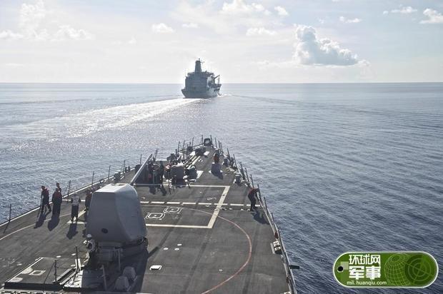 美军舰擅闯西沙领海 中国海军派两艘舰艇驱离