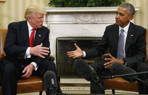 奥巴马特朗普白宫会面 商讨政权交接事宜