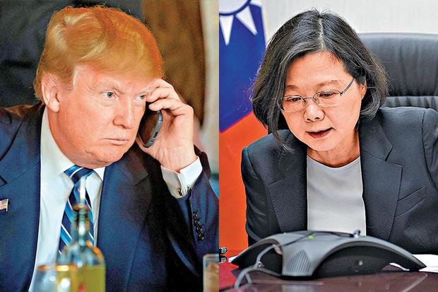 特朗普接蔡英文通话是被利用 想借台湾施压大陆