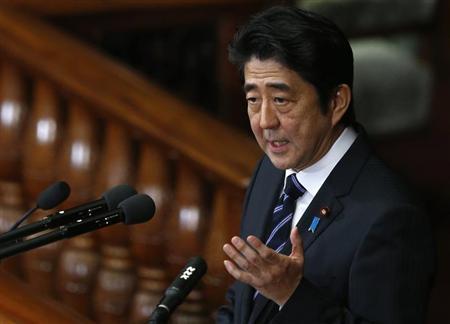 安倍发布施政方针要修宪 称有必要改善对华关系