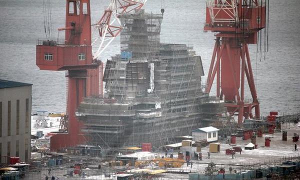 外媒:中国山东号航母接近完工 预计2019年服役