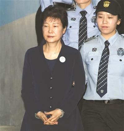 韩前总统朴槿惠首次出庭受审
