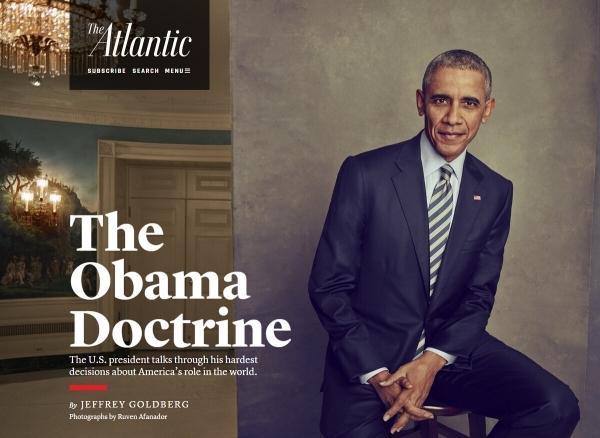 奥巴马:美国更惧怕一个受到威胁的中国