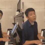 胡海泉边弹边唱《最美》致敬医护人员,而陈羽凡需拿手机看歌词