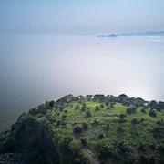 太湖十五渚 ▏庙山渚:无锡伸入太湖最南端的水中陆地,湖上神山