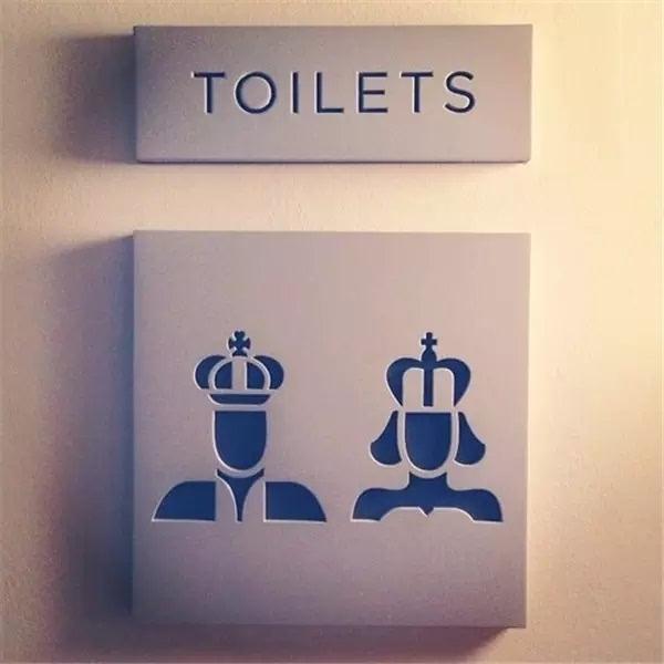 爱死这男女有别的创意 洗手间的创意标识设计艺术图片