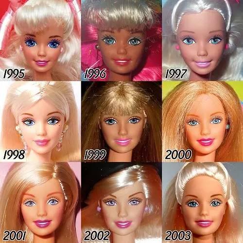 56年来 芭比娃娃每年都要做一次 微整形