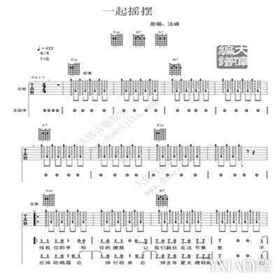 汪峰河流吉他谱 给你一个详细的吉他谱