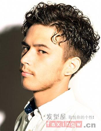 日系发型假发烫发短发海图v发型帅气满分男生短发斜刘时尚图片