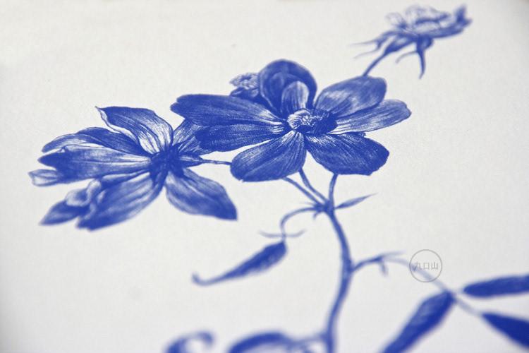 月季花简笔画彩色手绘