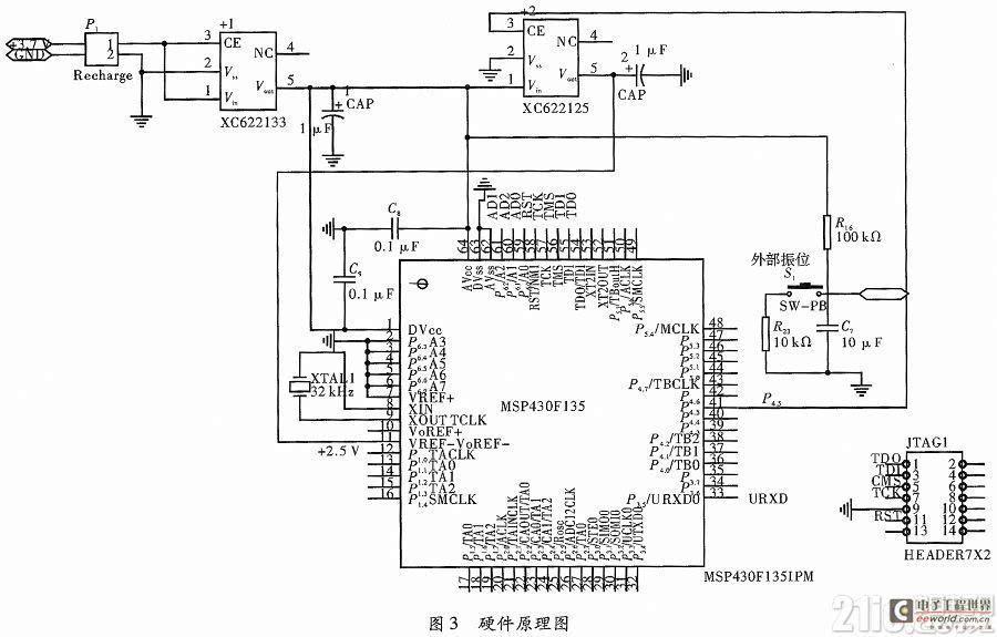 基于msp430单片机的无线信号采集系统