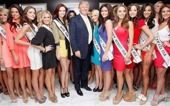 美国大胆嫩鲍人体艺术_壕气美国总统候选人 家里是土豪金 老婆全是嫩妻
