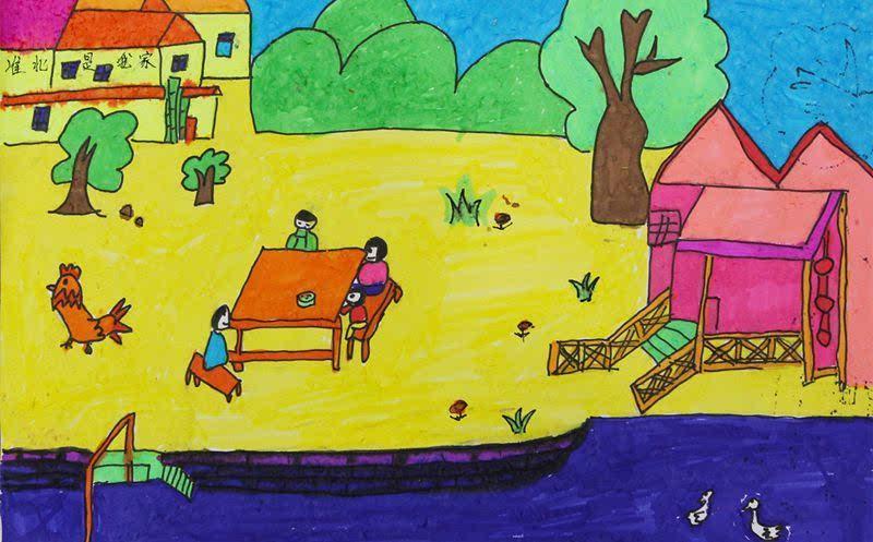 淮北开展 我心中的美好乡村 少儿绘画比赛活动
