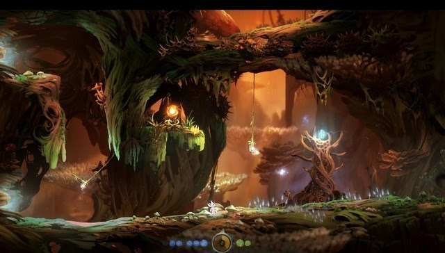 《奥日与黑暗森林》表面来看是一款极为清新的独立游戏,我自己也是被图片