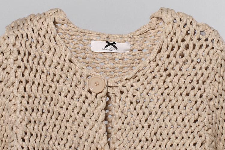 supreme-lala 毛线编织镂空针织衫
