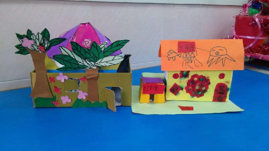 童话里的小屋 手工创作图片
