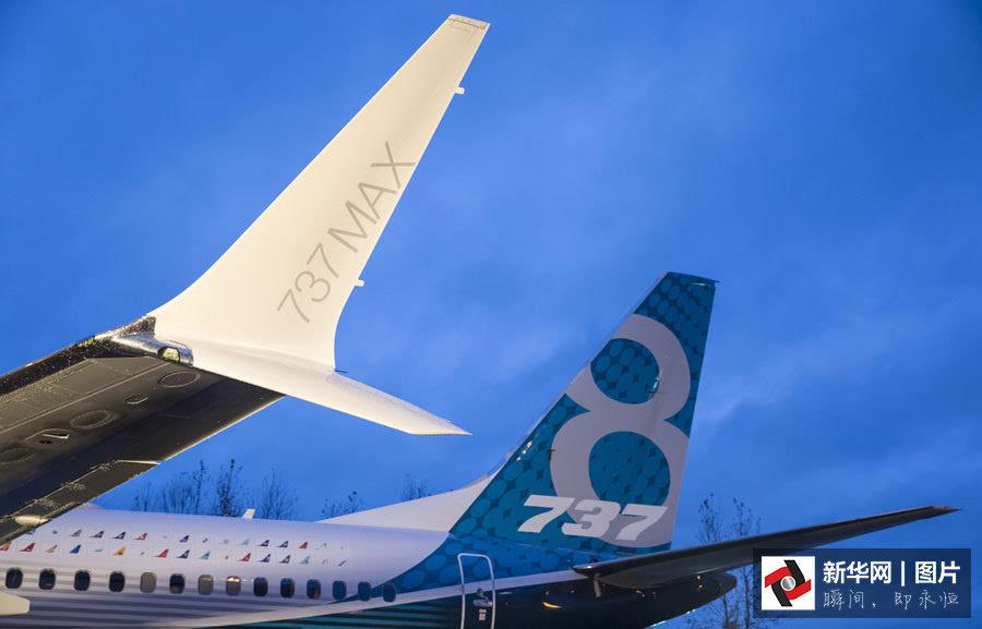 波音首架737 max飞机出厂亮相