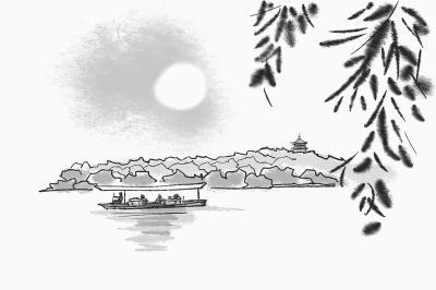 杭州西湖图