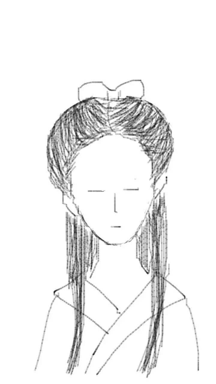 手绘古装画发型