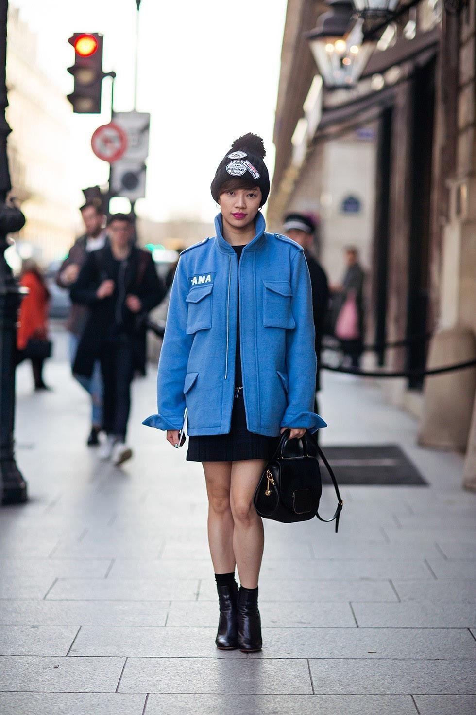 时尚 正文  除了明星很爱戴,针织帽也是各种街拍达人最喜欢的配件之一