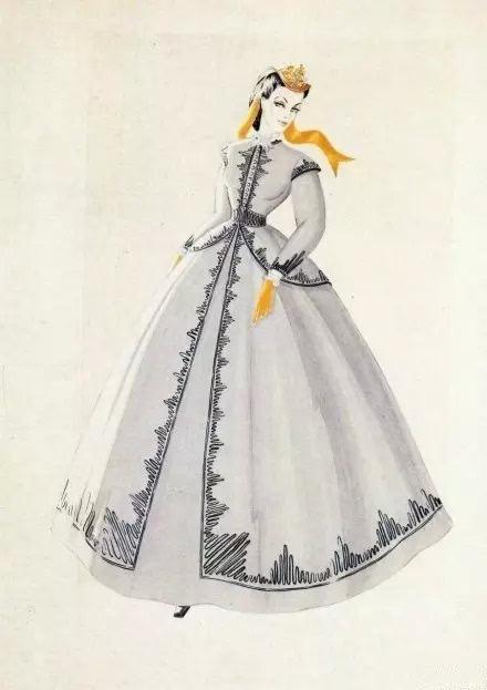 刺绣女子手绘图