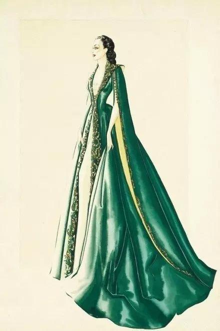 1939 乱世佳人 服装设计风格手绘图