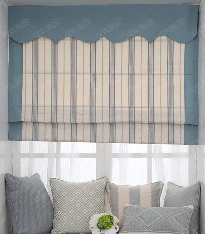 欧式折叠窗帘效果图