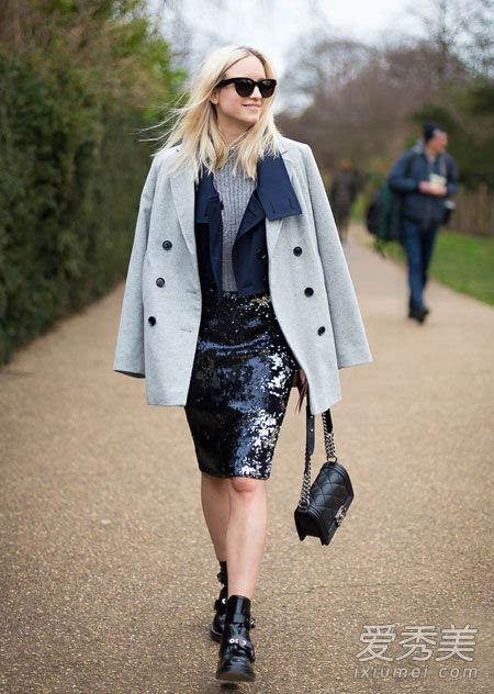 毛衣搭配半身裙