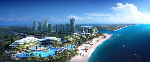 森林城市设计效果图 森林城市与新加坡一桥之隔,土地是永久产权,房价仅为新加坡的四分之一。杨国强结合当前城市发展现状和环境问题,在发布会上说:现在城市的情况是一栋栋的水泥楼,外面就是马路,(难道)这就是我们追求的现代化结果?他说:森林城市是我梦想中的城市典范,整座城市立体分层,车辆在地下穿行,地面都是公园,建筑外墙长满垂直分布的植物,就像生活在森林里,地上是无污染的架空轨道交通;每一天,人们都生活在花园里,呼吸在森林里,愉悦在自然之中。按照碧桂园的设计规划,森林城市将是中国企业在马来西亚建造的首座智