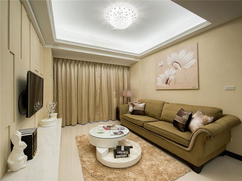 90平米简约风格三居室装修设计 城市一角甜蜜家高清图片