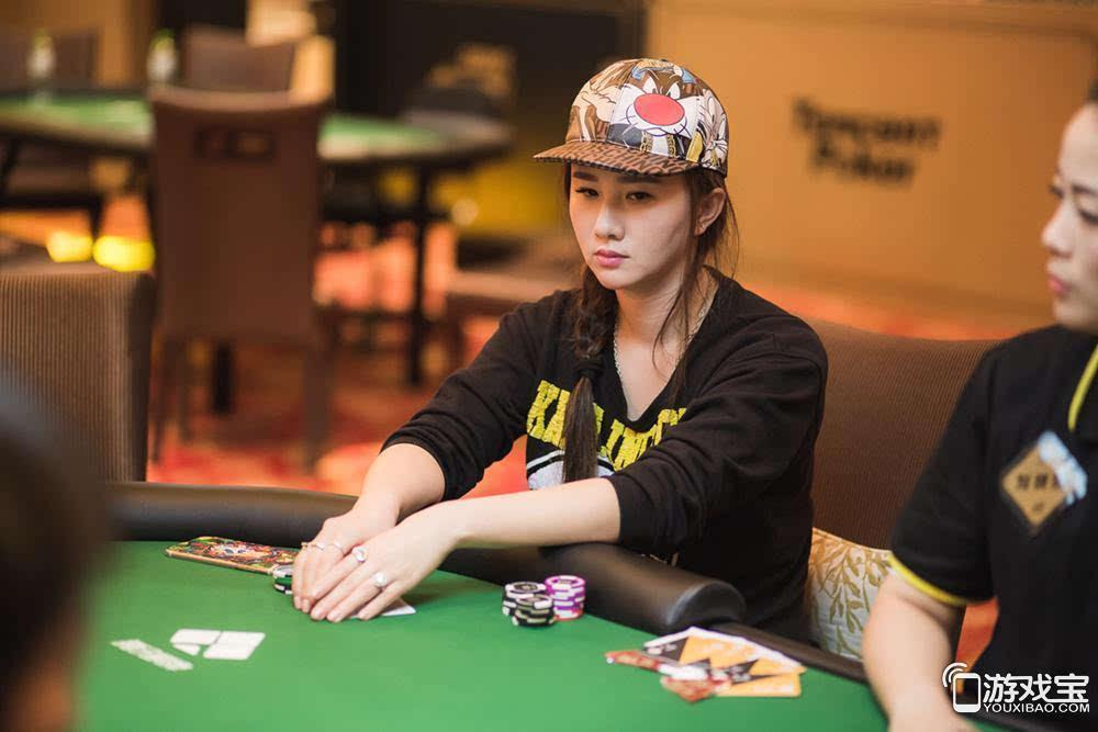 腾讯德州扑克锦标赛现场 孟瑶参加女子比赛
