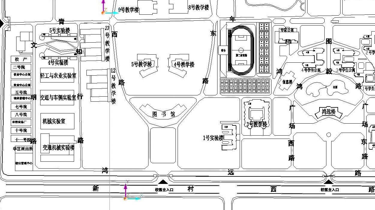 汉中市实验中学平面图