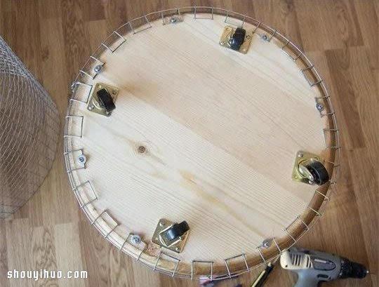 圆筒造型洗衣筐收纳筐diy手工制作图解教程