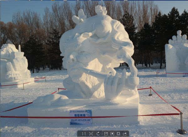 第二十二届全国雪雕比赛落幕