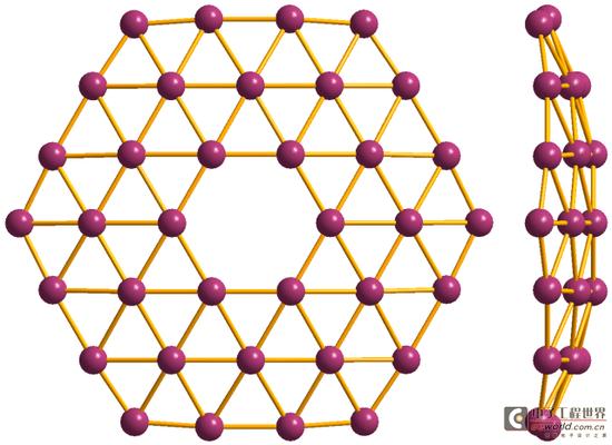 """对这些硼墨烯薄膜的分析显示,有些薄膜和""""硼墨烯""""分子结构模型具有"""