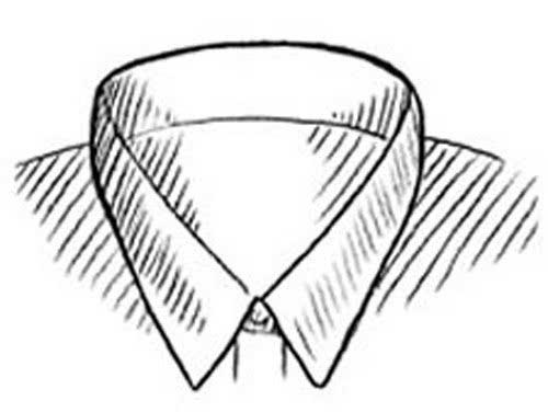 衬衣手绘款式图