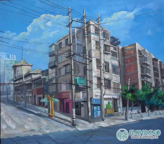 风景长巷手绘铅笔