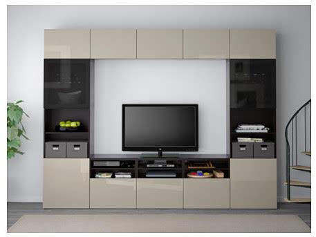 (宜家黑褐色贝达组合电视柜) 组合柜可以在客厅打造一面收纳背景墙图片