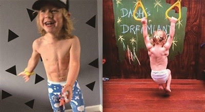 澳洲三岁男孩 有6块腹肌