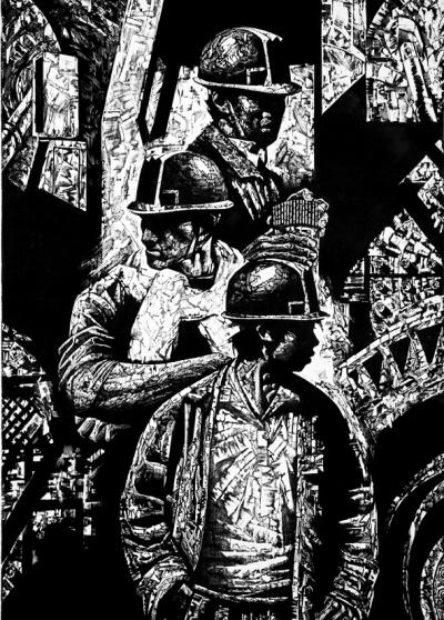 黑白版画素材人物鲁迅