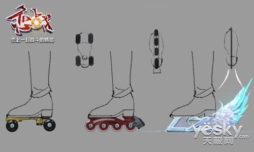 冰鞋手绘原画