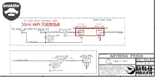 iphone 6原理图5ghz wifi天线馈电端口 手机作为移动终端设备,必须