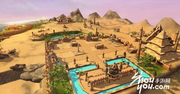 城市中随处可见的古代都市的遗迹和金字塔迷宫,仿佛在倾诉着魔王侵略