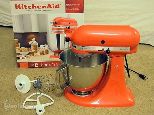 kitchenaid糖果色多功能食物搅拌机使用体验