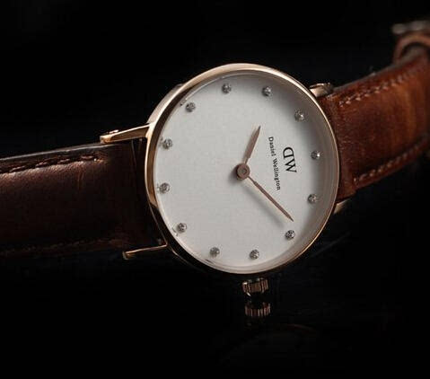 ...Daniel Wellington 0903DW 女士真皮腕表